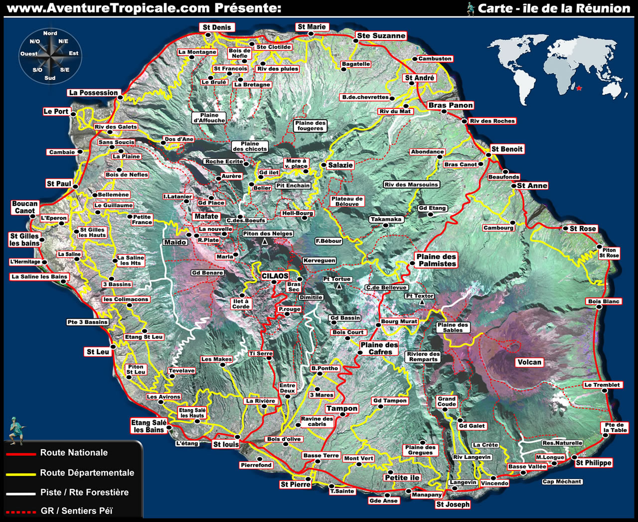 Where Is Reunion Island Google Maps